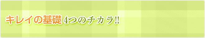 キレイの基礎4つのチカラ!!